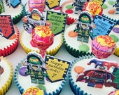 Lego Nexo Knight Cupcake topper