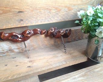 Corkscrew vine wood