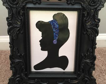 Button Art Silhouette Disney Princess