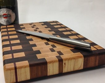 "End Grain Cutting Board Butcher Block 8.5""x13"""