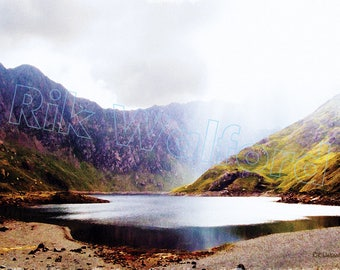 Llyn Llydaw below Snowdon, North Wales - Watercolour Print