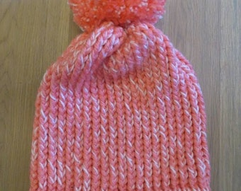 bonnet adult pink and white