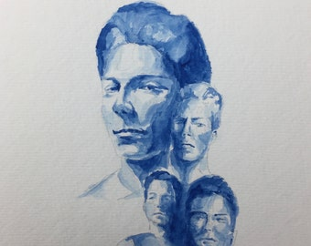 Handmade watercolor painting of the Outsiders Book Cover