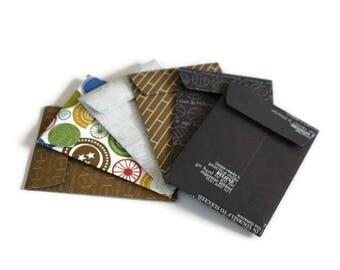 Gift card envelopes, Father's Day Gift card holders, Sporty Gift Card Holders, Gifts for Him, coin envelopes, money envelopes, set of 6
