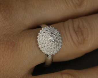 Cycling jewelry, nice silver sprockets ring for cyclists lovers. Bicycle ring.