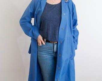 Vintage 60's Bright Blue Coat