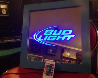 Bud Light Color Changing LED lit mirror