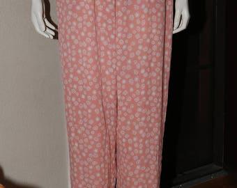 KOOS Van Den Akker Pants Women Vintage 1990s Funky Silk Pants Size L