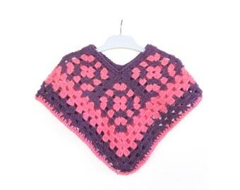Poncho crochet made girl