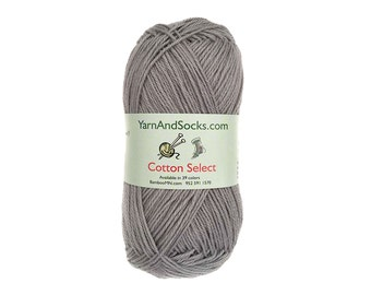 Sterling Gray Cotton Yarn 4 Skeins All Cotton Select
