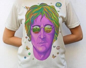 Imagine John Lennon Portrait T shirt