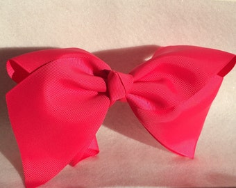 "8"" Hot Pink Boutique  Huge Hair Bow"