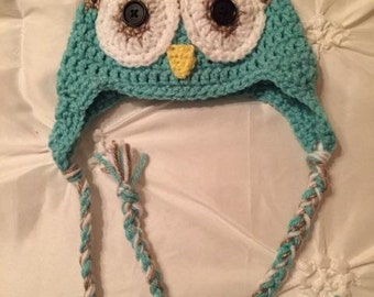Owl hat. Perfect for everyday wear and child photo props!