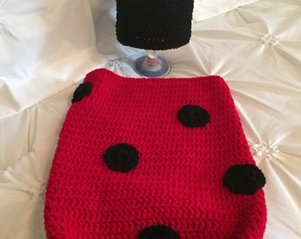 Lady bug newborn cocoon,  child photo prop, Halloween costume