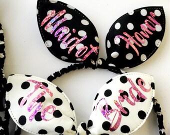 Bachelorette headbands. Bachelorette Party. Bridesmaid tiara. Bunny ears. Bachelorette Party Tiara. Bridesmaid Accessories. Bride
