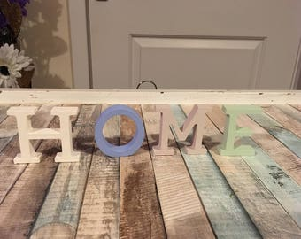 Wooden home letters!
