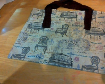 fancy french tote bag
