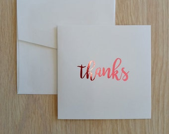 Foil Greeting Card, Thanks Card, Thank You Card, Inspirational Quote Card, Birthday Card