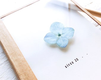 Press Flower Notebook - Blue Hydrangea