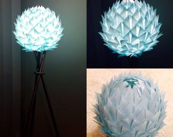 Fireball origami lamp shade, Romantic Floor lamp, Artichoke lamp, Paper Lampshade
