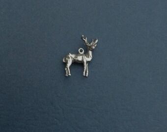 Sterling Silver Buck Deer Charm