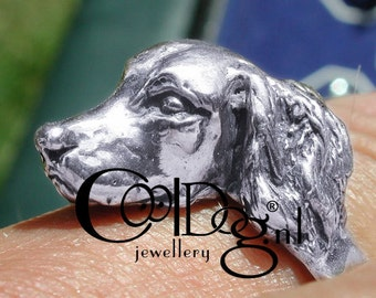solid silver Ring of the Golden Retriever