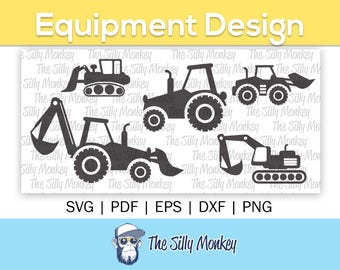Construction SVG Clipart | Tractor SVG | Tractor cricut | Car Truck cut File | Construction Car SVG