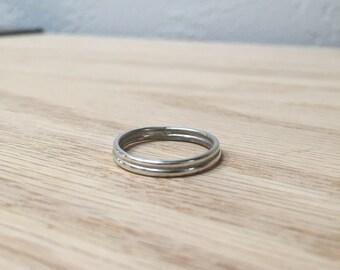 Sterling Silver Ring No. 10 - Slim Band - Geometric - Modern - Handmade