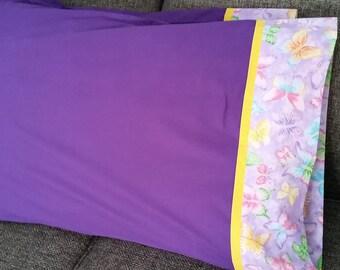 Purple/Butterflies Pillowcases