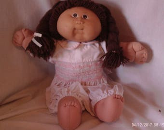 1987 Cabbage Patch Brown Eyes and Brown Pigtails