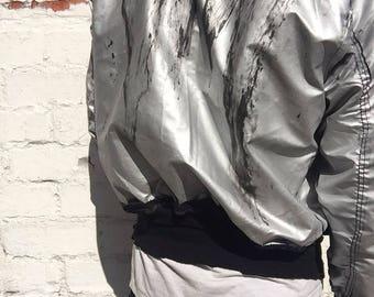 FANGANG Hand Painted Bomber Jacket