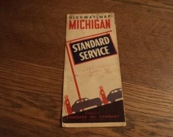 Vintage Michigan Road Map