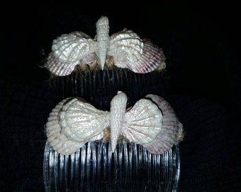 Decorative Shell Wrapped Hair Combs