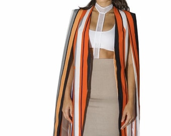 Multi Color Cape Blazer