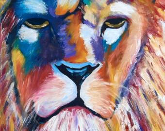 """Acrylic Print - """"A Lion's True Colors"""""""