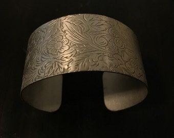 Vintage Hammered Sterling Silver Cuff