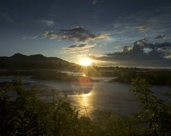 4000 Islands, Laos at sunset.