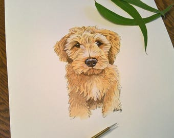 Pet portrait custom hand painted