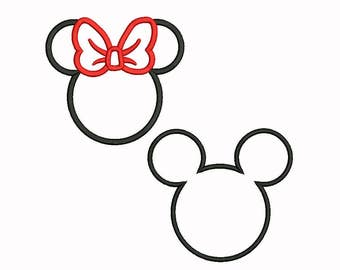 Mickey and Minie embroidery 9 Size Design Instant Download 8 Formats machine embroidery pattern Download machine embroidery pattern