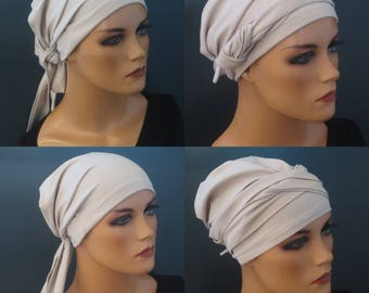WRAP TURBAN/cap stone ideal for chemotherapy hair loss alopecia cancer cancer Yoga convertible Cap