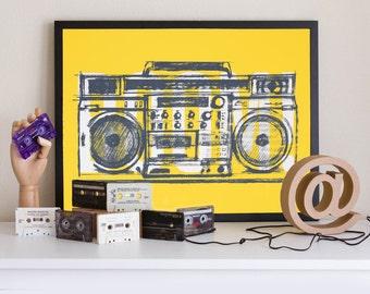 Boombox Yellow