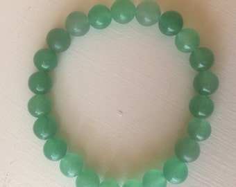 Opportunity & Prosperity Bracelet, Green Aventurine