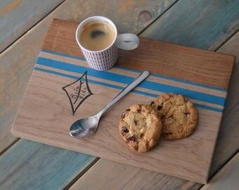 """Serving Board / tray breakfast """"Blue retro line"""""""