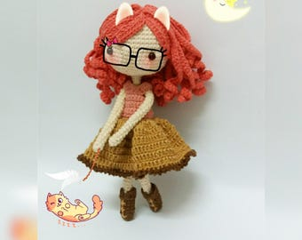 Crochet Doll Pattern / Amigurumi doll pattern - Hannah