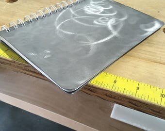 Brushed steel notebook