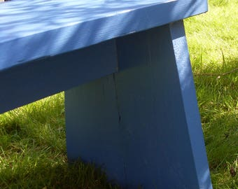 Garden Bench Made from Reclaimed Scaffold Boards, Green / Blue / Any Colour