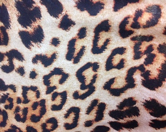 Brown cheetah print polyester non stretch