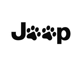 Jeep Paws Vinyl Decal