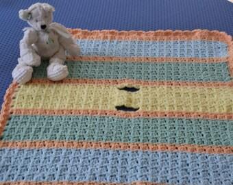 Crochet Baby Blanket, Crochet Car Seat Blanket, Baby Blanket, Crochet Blanket with holes for buckle, Stroller Blanket, Baby Shower Gift