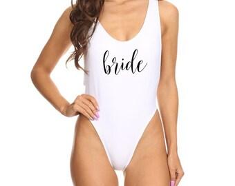 Bride White One Piece Swimsuit Bride To Be Swimsuit Future Mrs Tank Bride Swimwear Bride Bathing Suit Bride Swim Suit Bride Gift Mrs Gift